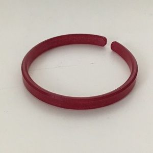 RETIRED Color By Amber Red Solid Skinny Bracelet